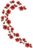O elemento do teste padrão consiste das flores cor-de-rosa. Fotos de Stock