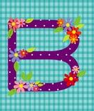 O elemento floral brilhante da letra B do alfabeto colorido dentro Foto de Stock