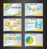 O elemento infographic da apresentação de múltiplos propósitos alaranjada e verde e o projeto liso do molde do ícone do símbolo d Imagem de Stock Royalty Free