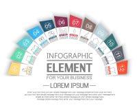 O elemento para stikers infographic do molde numera a opção para a Web ilustração do vetor