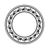 O elemento simples do quadro do redemoinho no formato do vetor e pode Fotografia de Stock Royalty Free