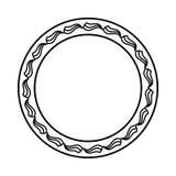 O elemento simples do quadro do redemoinho no formato do vetor e pode Imagem de Stock