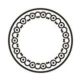 O elemento simples do quadro do redemoinho no formato do vetor e pode Fotos de Stock Royalty Free