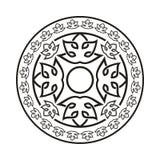 O elemento simples do quadro do redemoinho no formato do vetor e pode Fotos de Stock