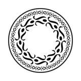 O elemento simples do quadro do redemoinho no formato do vetor e pode editável Fotos de Stock Royalty Free