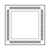 O elemento simples do quadro do redemoinho no formato do vetor e pode editável Imagem de Stock