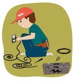 O eletricista Imagem de Stock