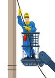 O eletricista monta o fio Foto de Stock Royalty Free