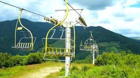 O elevador de esqui de montada, Ucrânia video estoque