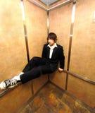 O elevador senta-se fotografia de stock