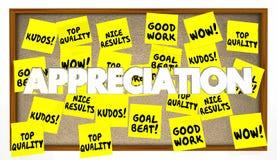 O elogio da apreciação agradece a notas do reconhecimento ilustração royalty free