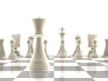 O em-foco da parte de xadrez da rainha Fotos de Stock Royalty Free