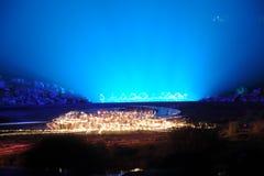 O ` em grande escala de Jinggangshan do ` da mostra do beira-rio Imagem de Stock