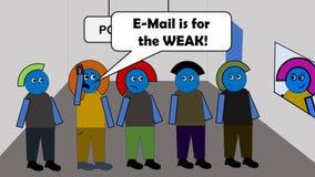 O email é para o FRACO! Imagens de Stock Royalty Free
