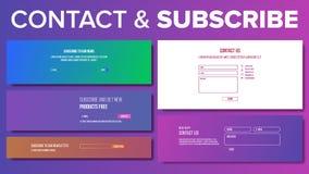 O email subscreve o vetor do formulário Para o boletim de notícias do Web site Mercado do email Ilustração ilustração royalty free