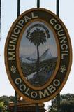 O emblema do Conselho municipal de Colombo foto de stock royalty free