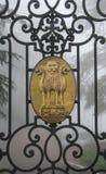 O emblema do estado da Índia foto de stock