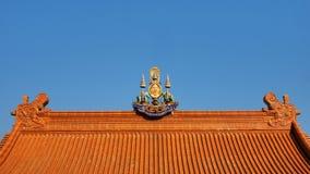 O emblema dourado do jubileu do HM rei Rama IX fotos de stock