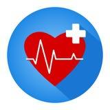 O emblema para o exame médico do departamento cardiovascular ilustração do vetor