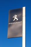 O emblema Peugeot Foto de Stock