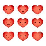 O emoji do coração ajustou um Fotos de Stock Royalty Free