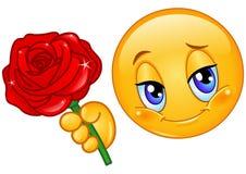 O Emoticon com levantou-se ilustração royalty free