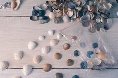 O empacotamento e a venda de lembranças marinhas, uma empresa de pequeno porte imagem de stock royalty free