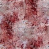 O emplastro vermelho das manchas de sangue da parede racha a pintura Fotografia de Stock