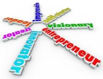 O empresário 3d exprime o negócio Person Start Company Venture Fotografia de Stock