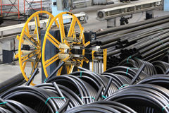 O encanamento conduz, a indústria, fabricação de tubulações Fotografia de Stock