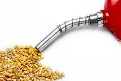 O enchimento acima? com milho baseou o álcool etílico Fotografia de Stock Royalty Free