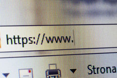 O endereço de Web site fotos de stock
