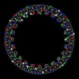 2.o engranaje anular de la malla brillante con los puntos ligeros ilustración del vector