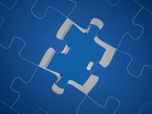 O enigma 3D rende Fotografia de Stock