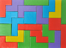 O enigma colorido remenda o fundo Imagens de Stock Royalty Free