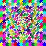 O enigma colorido remenda a queda da torsão detalhada ilustração stock