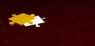 O enigma 3d em um fundo vermelho Imagens de Stock Royalty Free