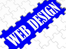 O enigma do design web mostra o conceito do Web site ilustração stock