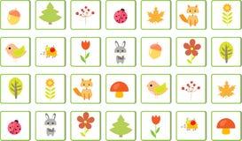 O enigma do jogo do ` s da criança, encontra dois idênticos Fotografia de Stock Royalty Free