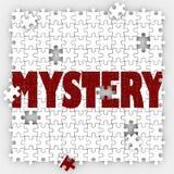 O enigma do mistério remenda incerteza desconhecida do furo que supõe S resolvido Foto de Stock