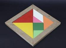 o enigma do tangram imagem de stock