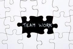 O enigma remenda - com palavra Team Work em espaço faltante Imagens de Stock Royalty Free