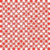 O enigma vermelho remenda a serra de vaivém - vetor - xadrez do campo Fotos de Stock Royalty Free