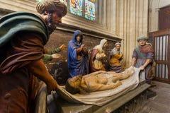 O enterro de Cristo fotos de stock royalty free