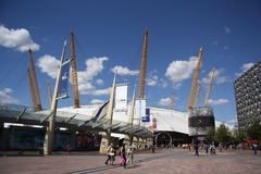 The O2 entertainment district in London. The O2 entertainment district on the Greenwich peninsula in South East London, England. It includs an indoor arena, a Stock Photos