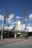 The O2 entertainment district in London. The O2 entertainment district on the Greenwich peninsula in South East London, England. It includs an indoor arena, a Royalty Free Stock Photography