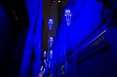 O ` entre o ` de dois mundos é arte finala clara impressionante da instalação, pela cidade do conselho de Sydney como parte de um imagens de stock royalty free