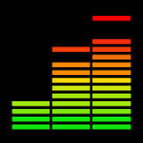 O equalizador da música Foto de Stock