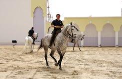 O Equestrian executa março em 23, 2012, Barém fotos de stock