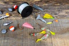 O equipamento de pesca gancho dos ganchos de pesca Imagens de Stock